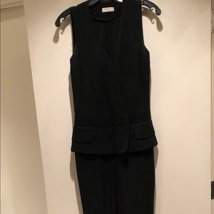 Black ALC jumpsuit with peplum